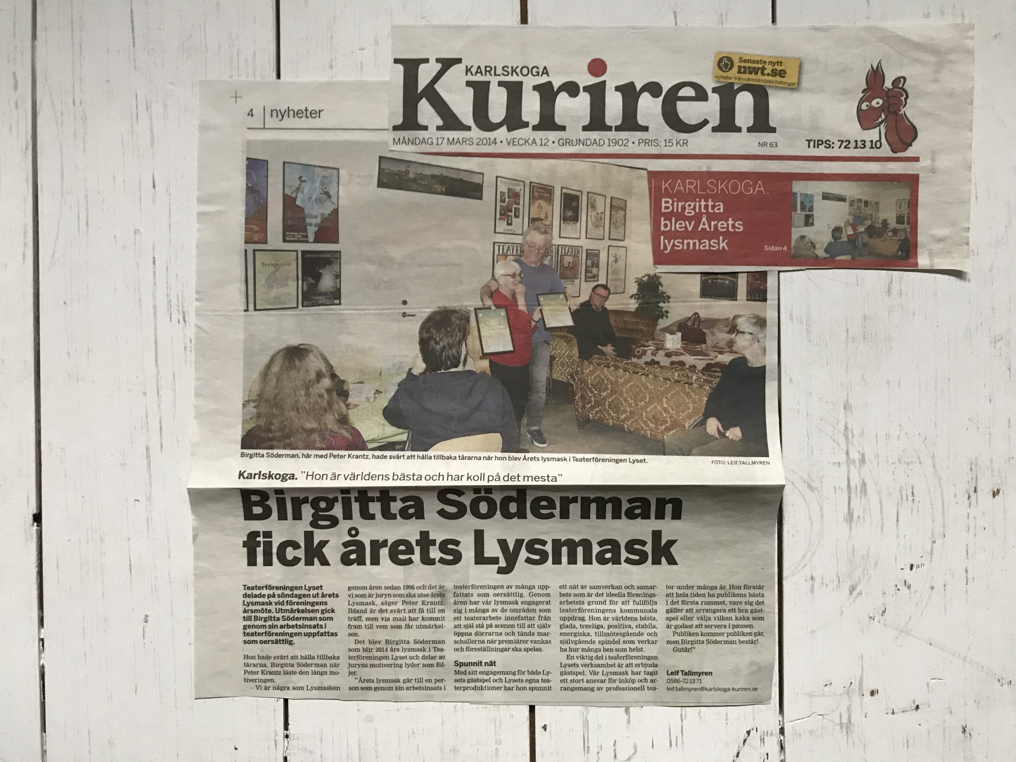 Lysmask Birgitta